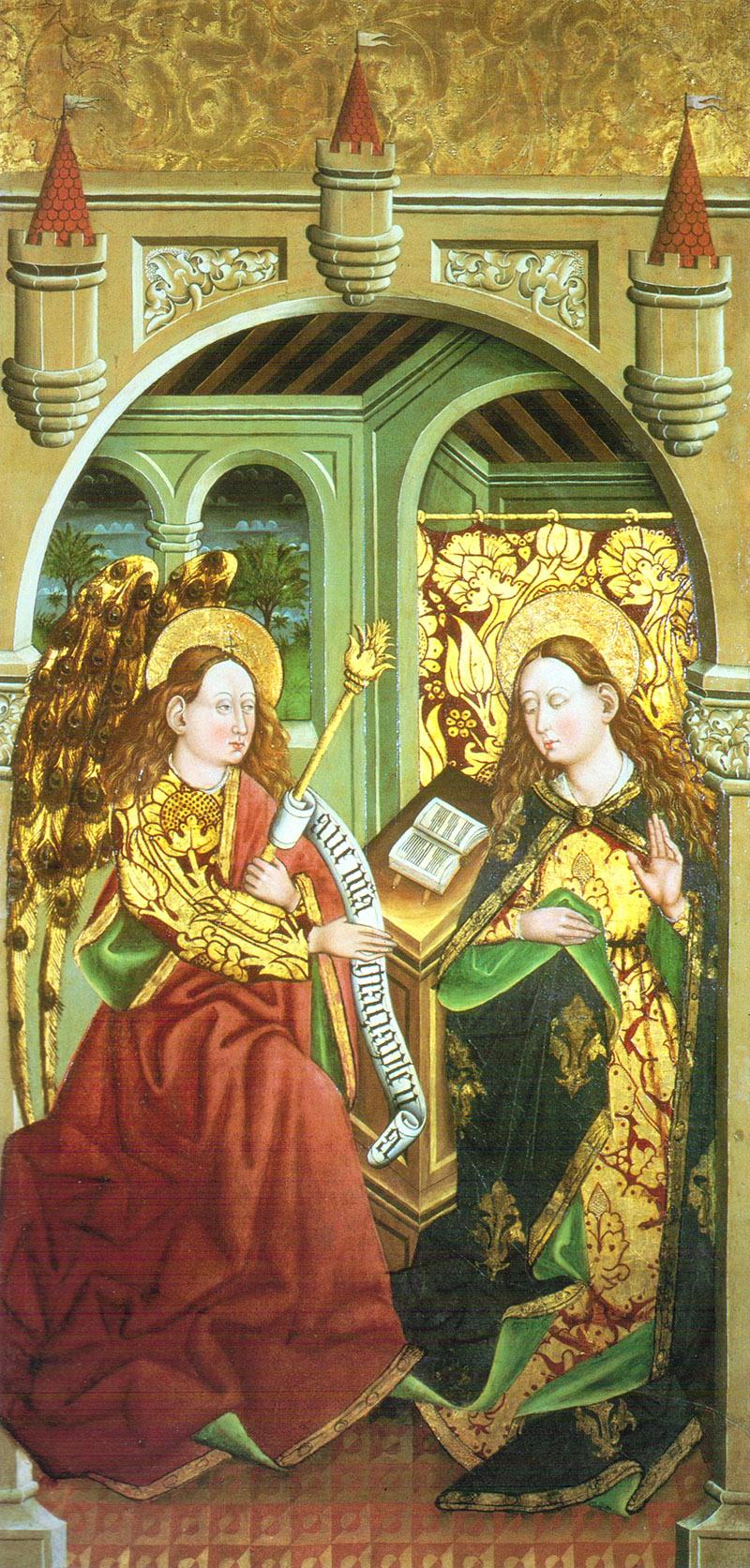 La anunciación, 1463-65 Juan Sánchez