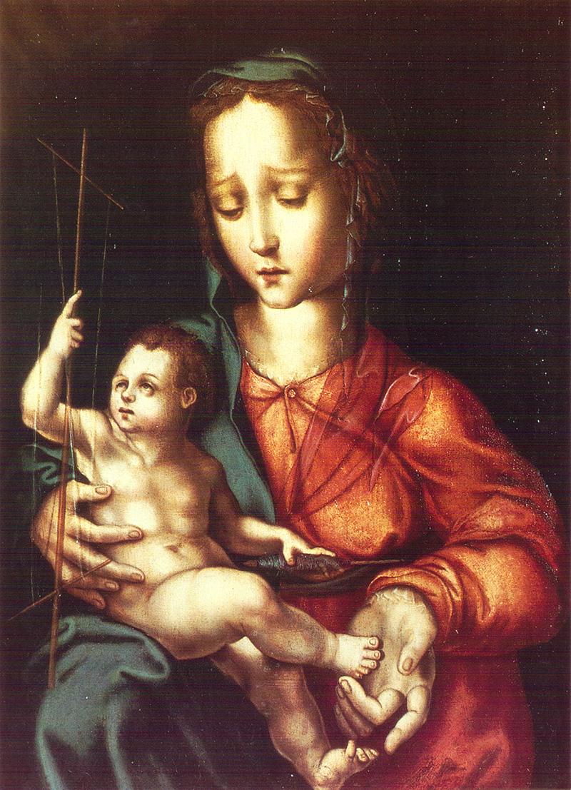 Virgen de la Rueca Luis de Morales
