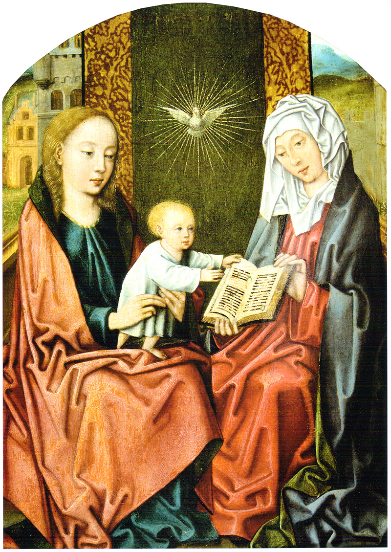 Santa Ana, la Virgen y el niño Bruselas hacia 1500