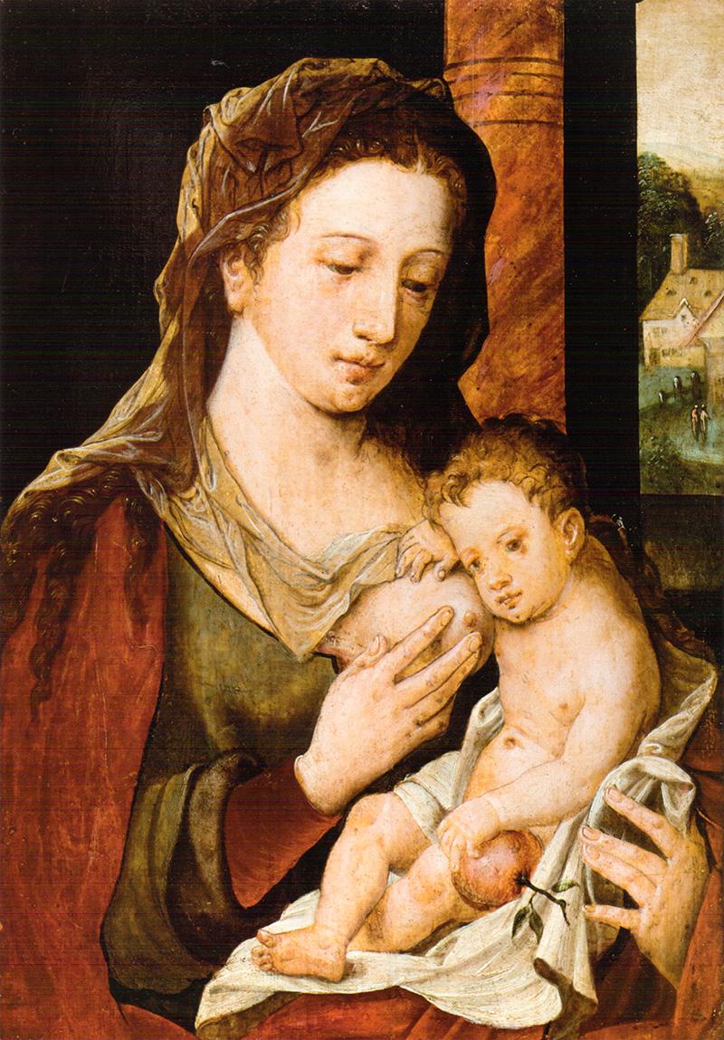 Virgen con Niño Maestro del hijo Prodigo