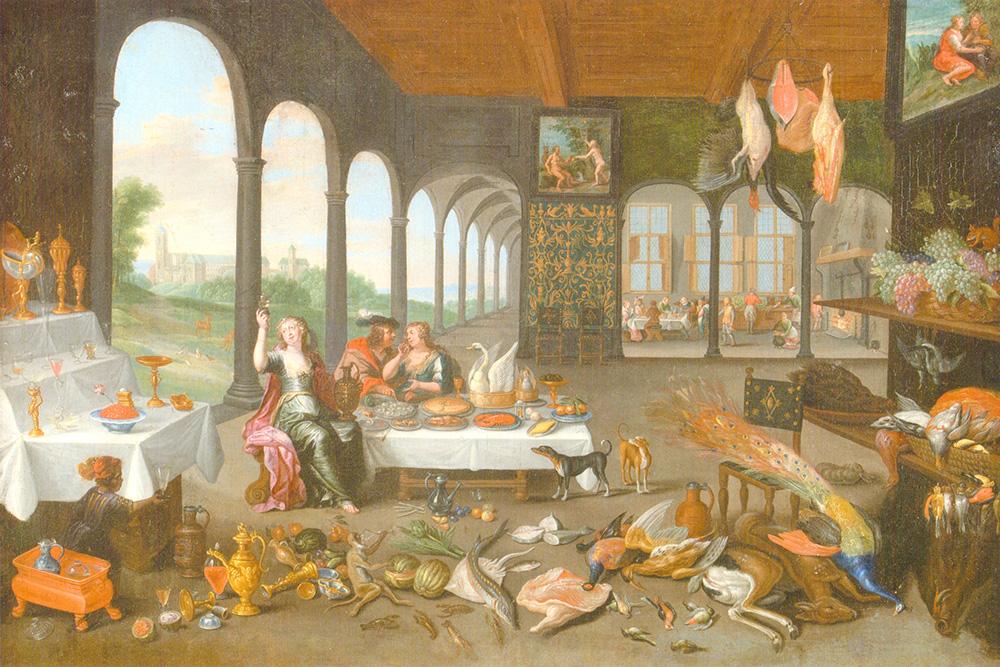El sentido del gusto Jan van Kessel I y Abraham Willemsens